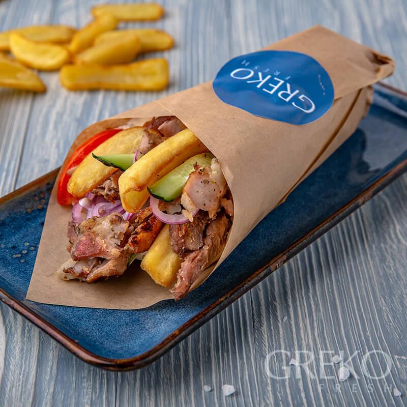 Gyros mic (pui / porc / vita)