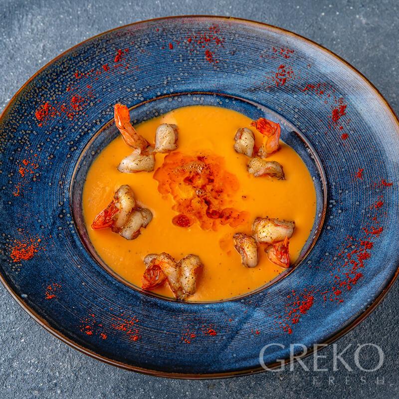 Supa de dovleac cu creveti