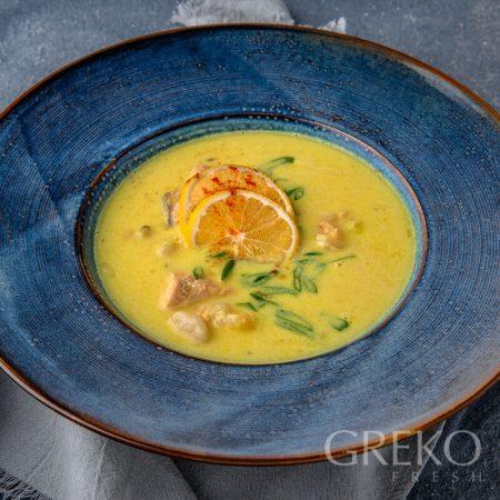 Supa de sofran cu fructe de mare